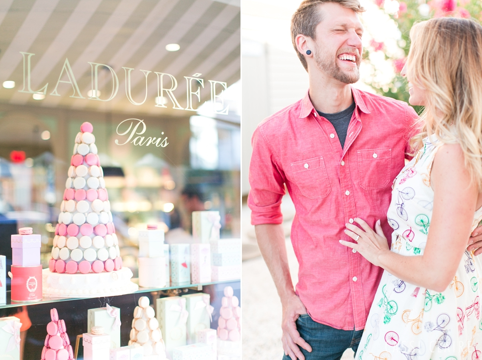 laduree engagement photo
