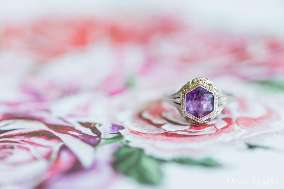 amethyst vintage ring