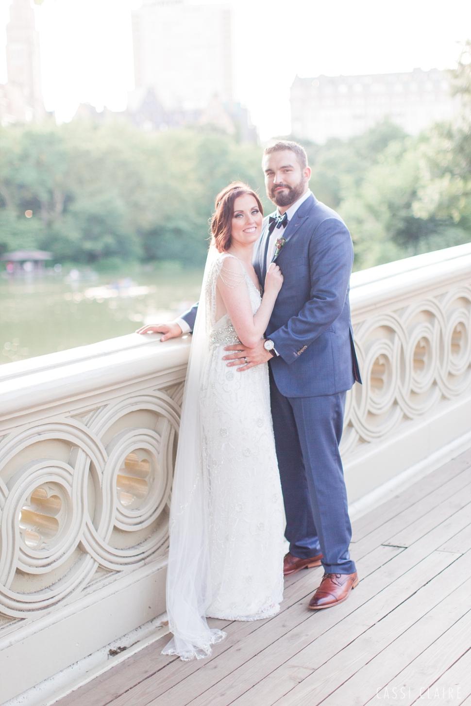 Bow Bridge wedding bride and groom