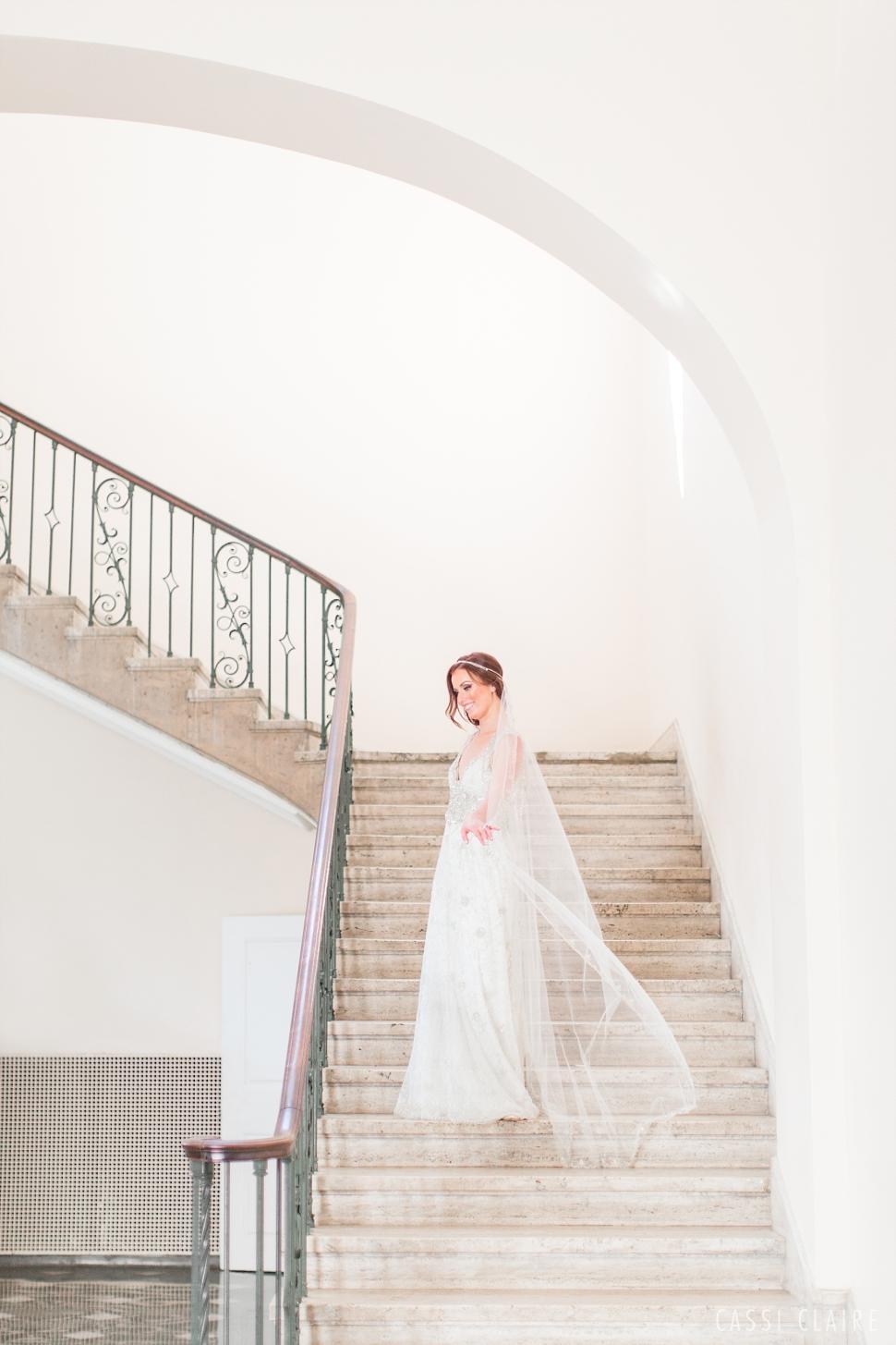 french chateau wedding bride