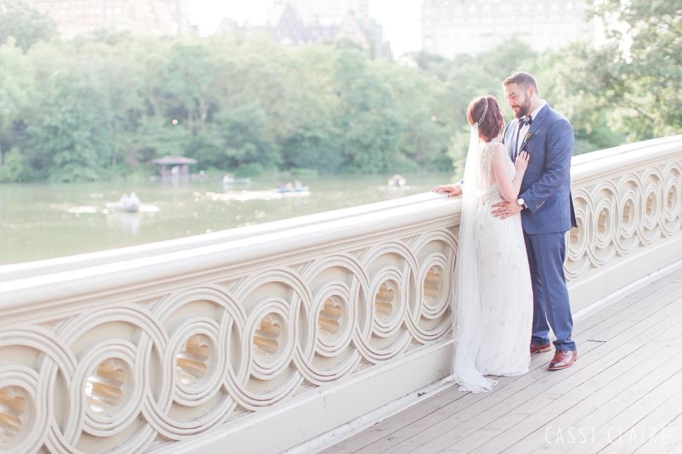 bow bridge bride and groom