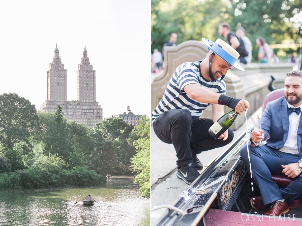 central park gondola wedding