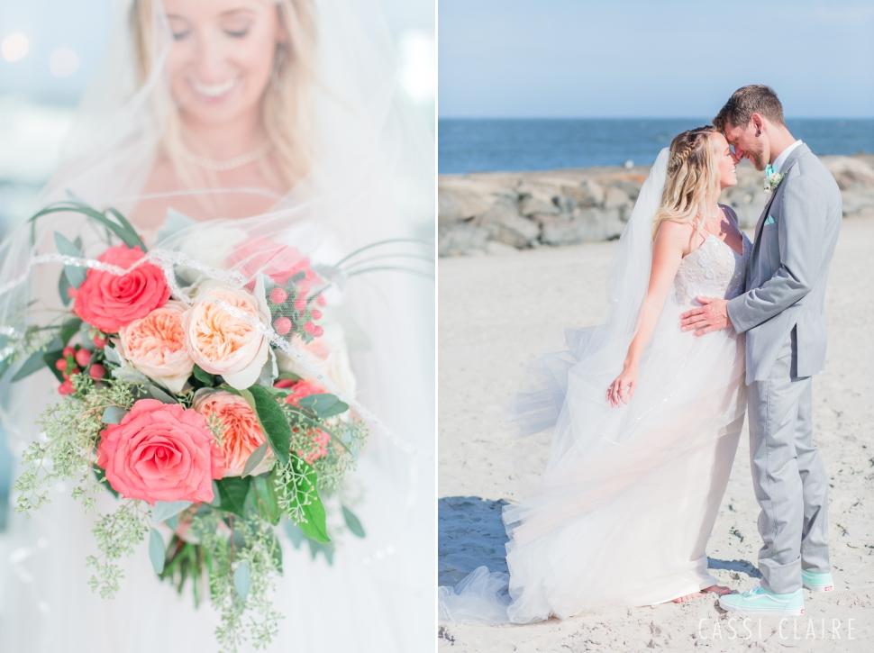 avalon nj beach bride and groom