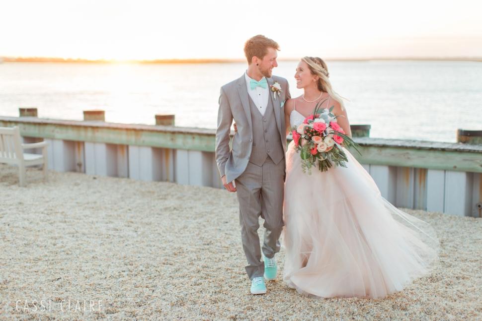 avalon yacht club sunset wedding