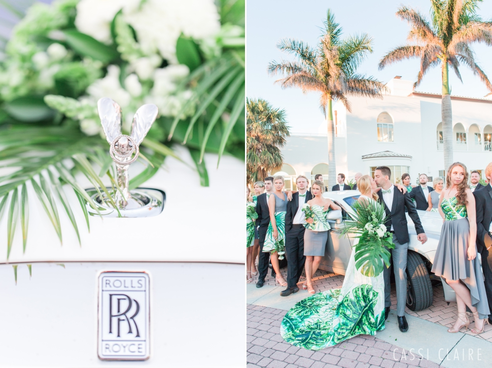 rolls royce wedding photo