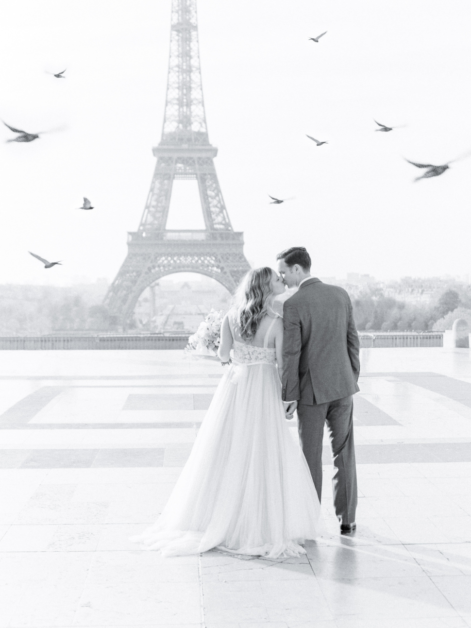 Romantic Eiffel Tower Elopement