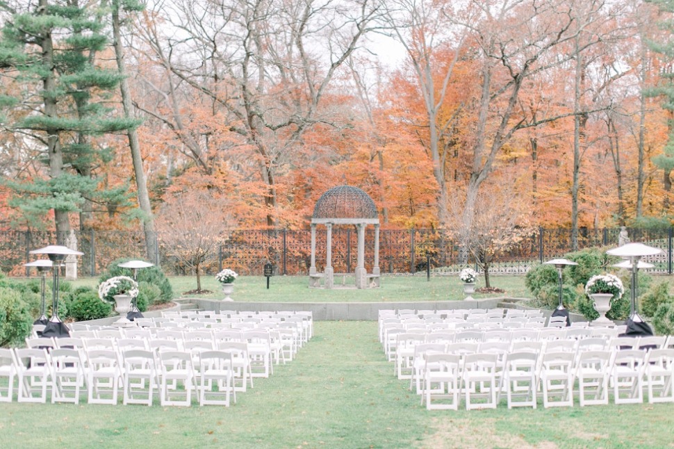 outdoor ceremony at Jasna Polana in the fall