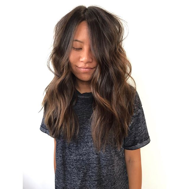 j o y c e    how friggin' cute is this little babe ?? ammi right?? she let me chop like 5 inches off & lighten her up for summer! yey!