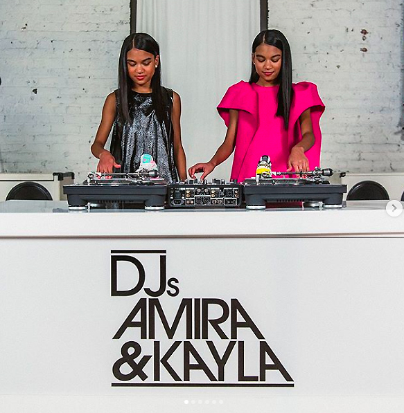 DJs Amira and Kayla Mummymoon Pink Dress.jpg
