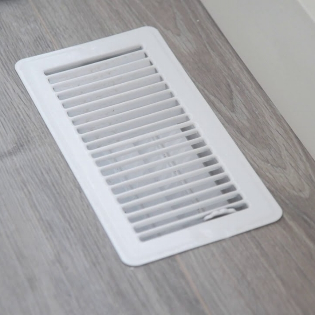 The floor is an excellent place to have heat vents. Keep them closed in summer.