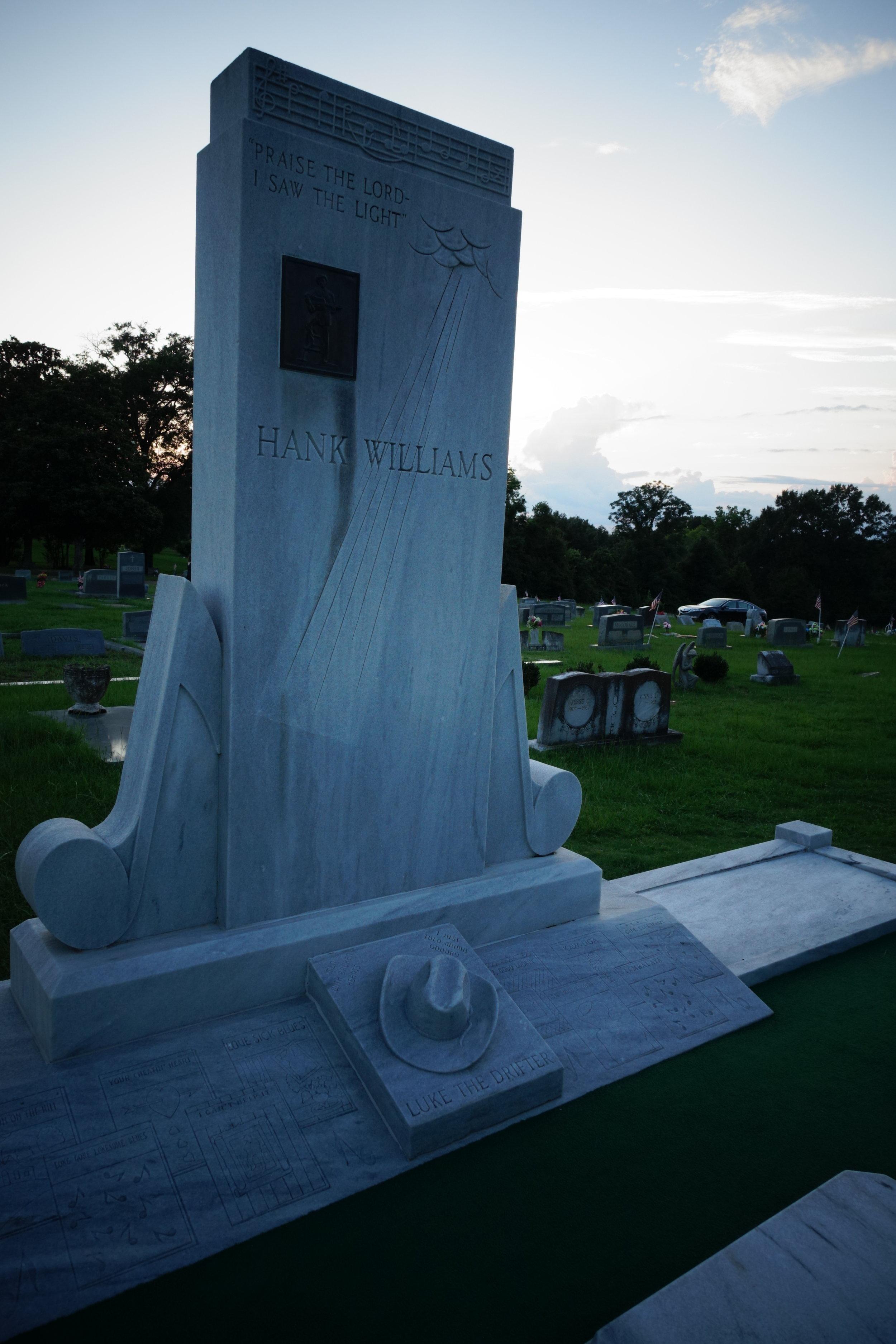 Hank Williams Tombstone