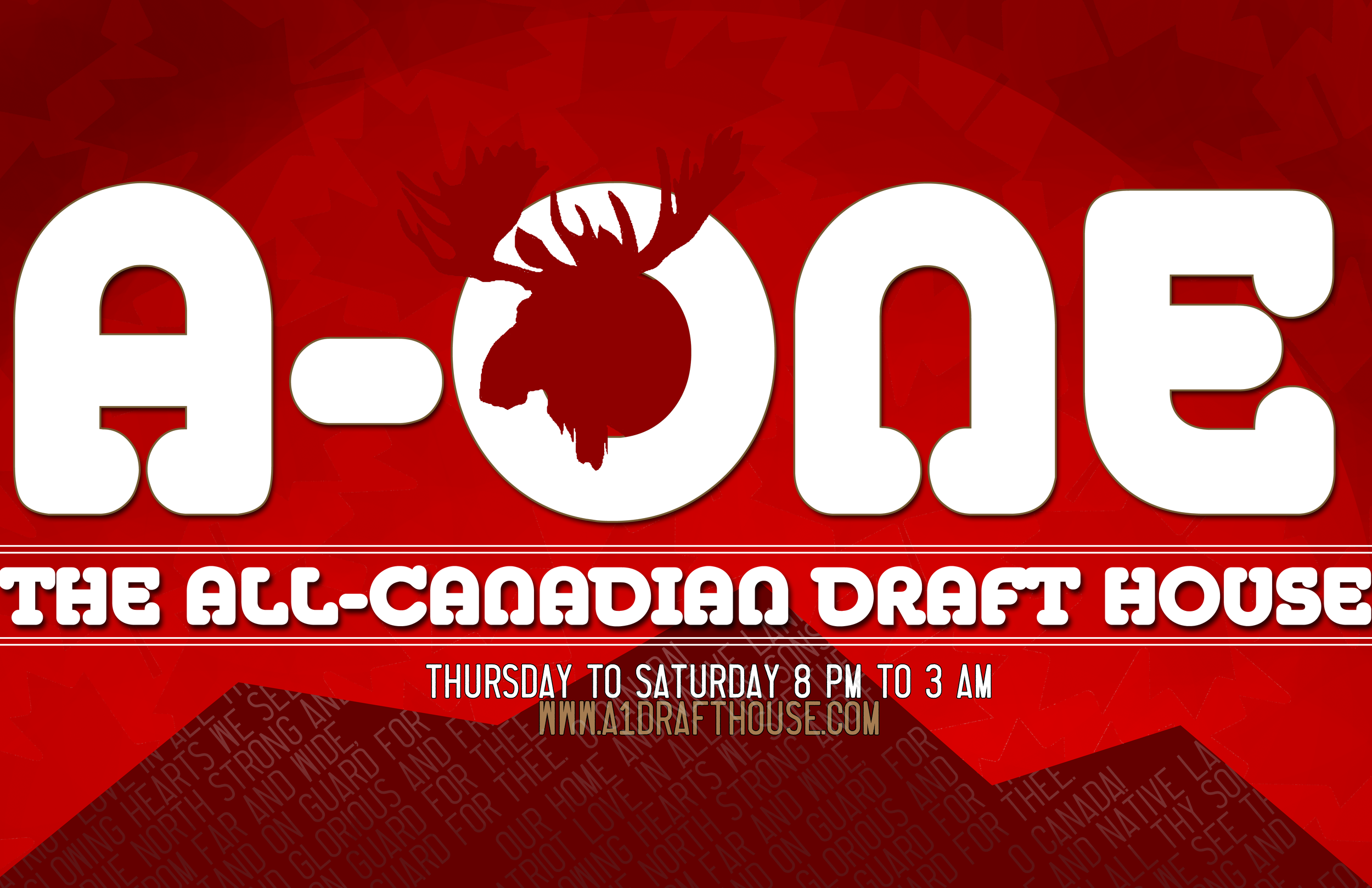 A-One Draft House Promo Banner
