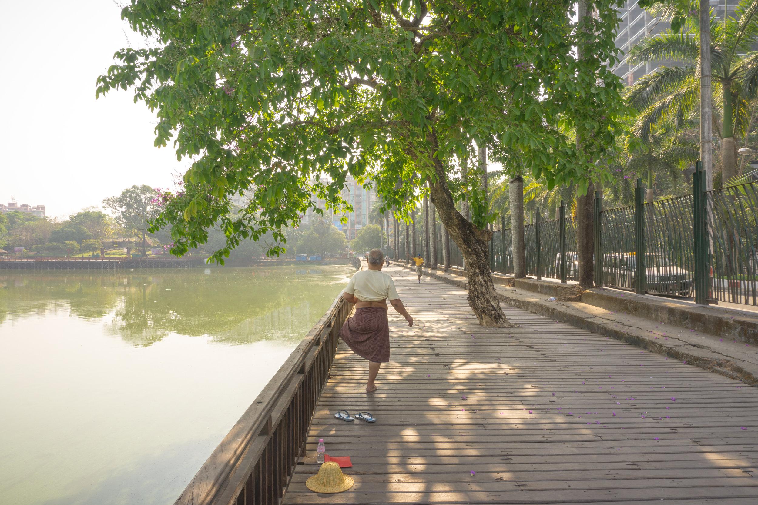 Kandawgyi Walking Path
