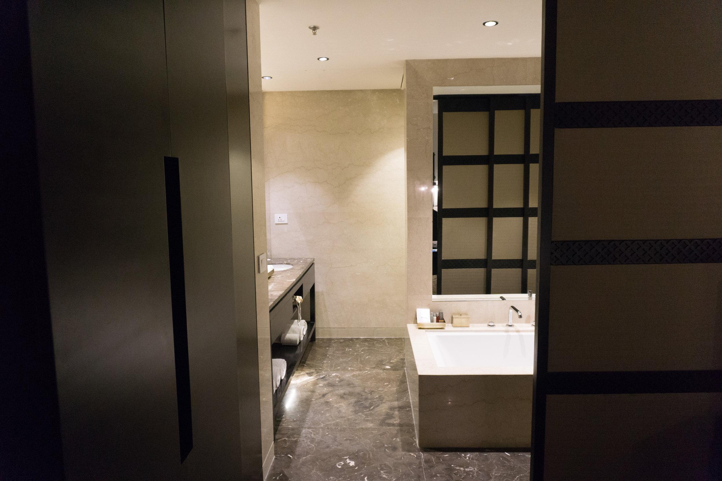 Bathroom entryway