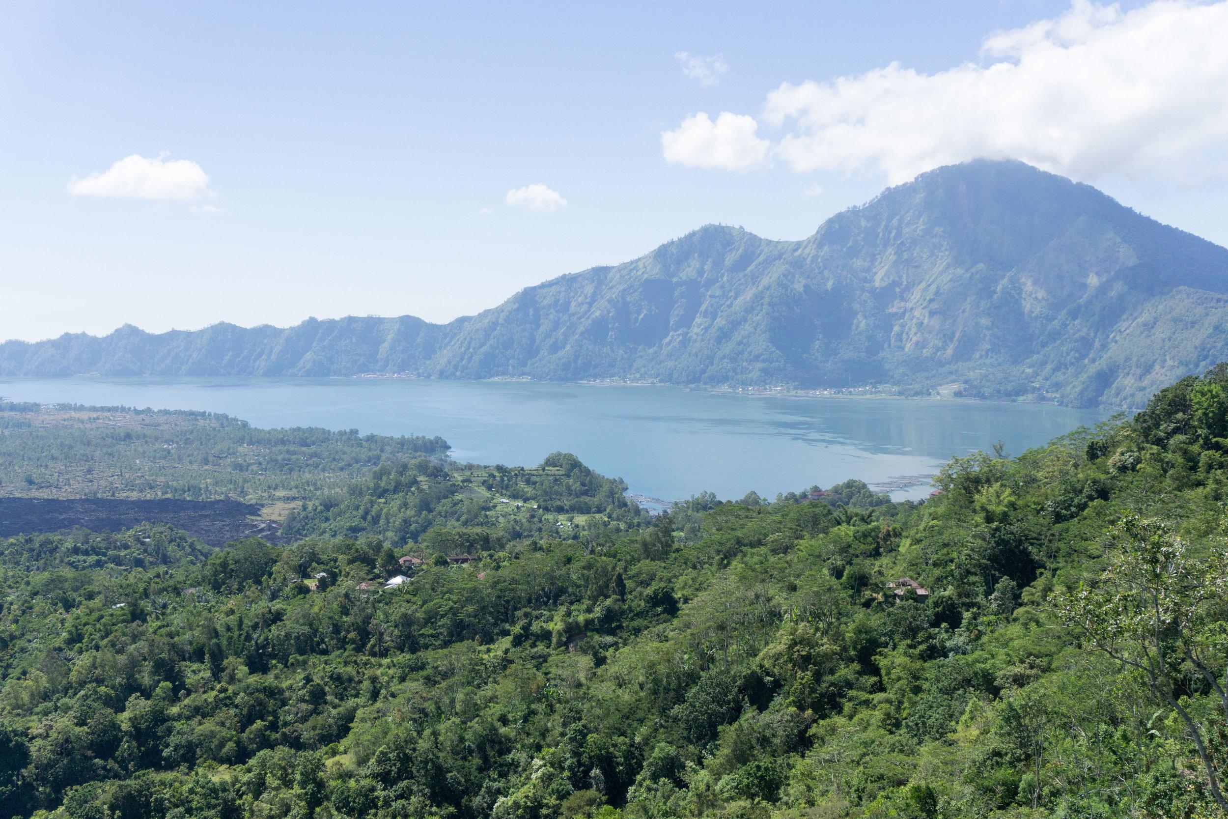 Mount Batur from a far