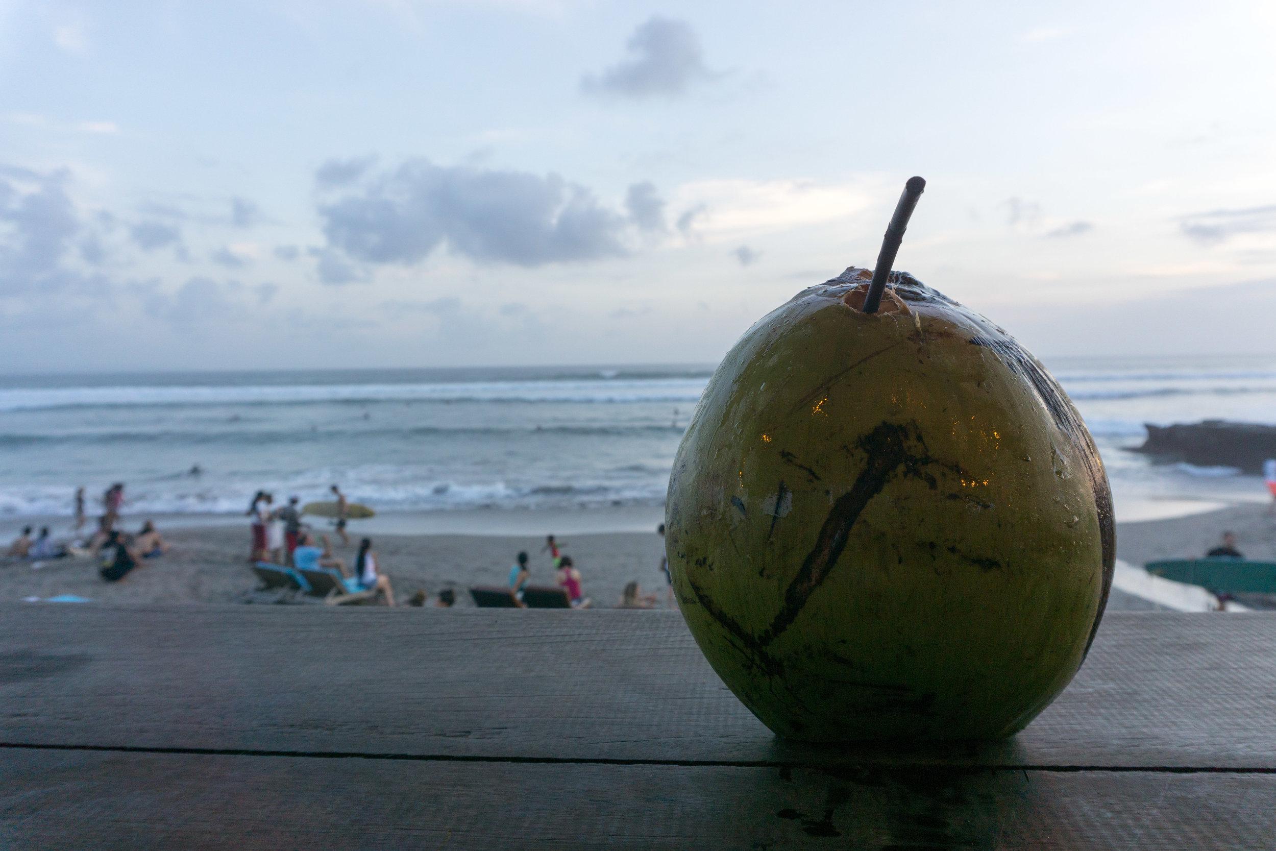 Coconut sunset near echo beach