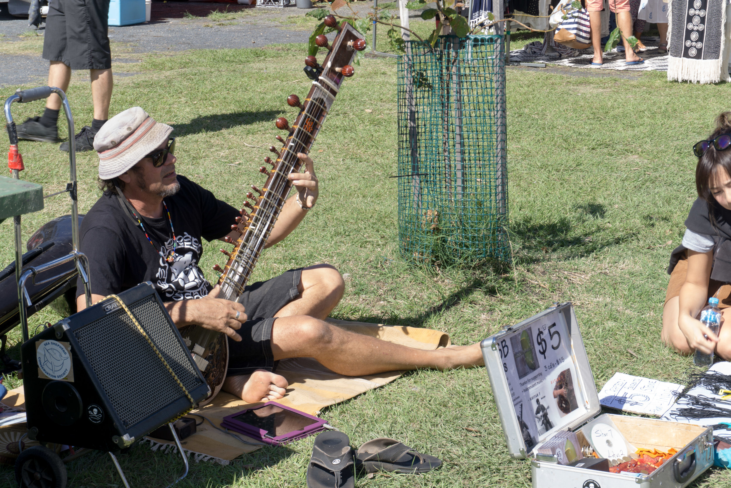 Tunes at the farmers market