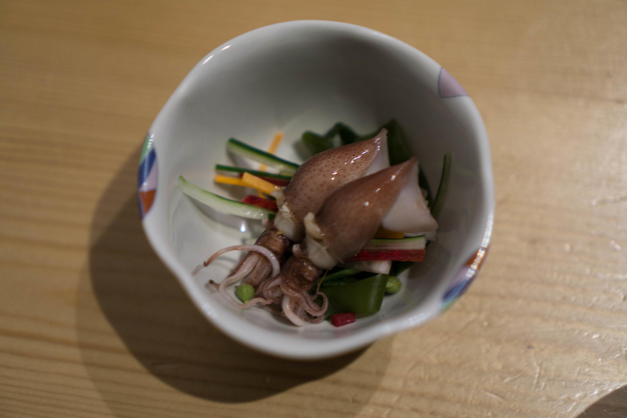 Squid appetizer