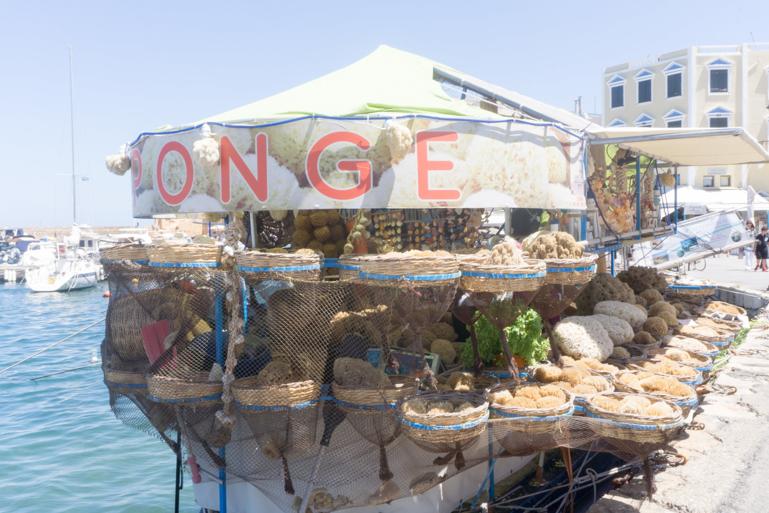 Little shops on boats throughout the harbor.