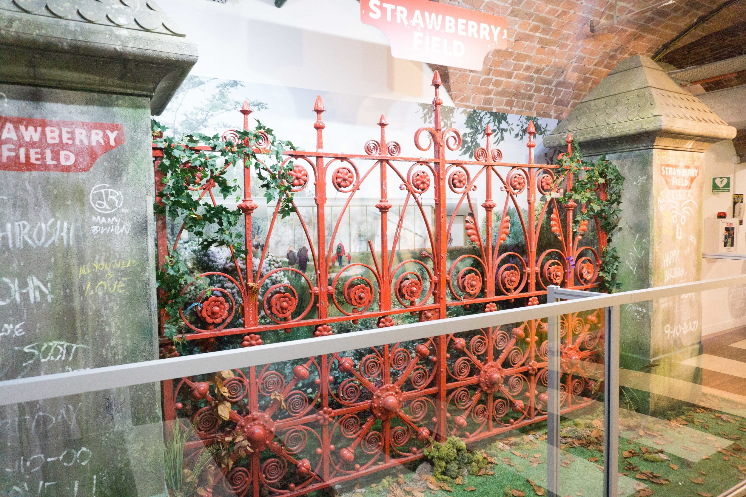 The real Strawberry Fields gate - an entryway to an orphanage John used to hang out at growing up