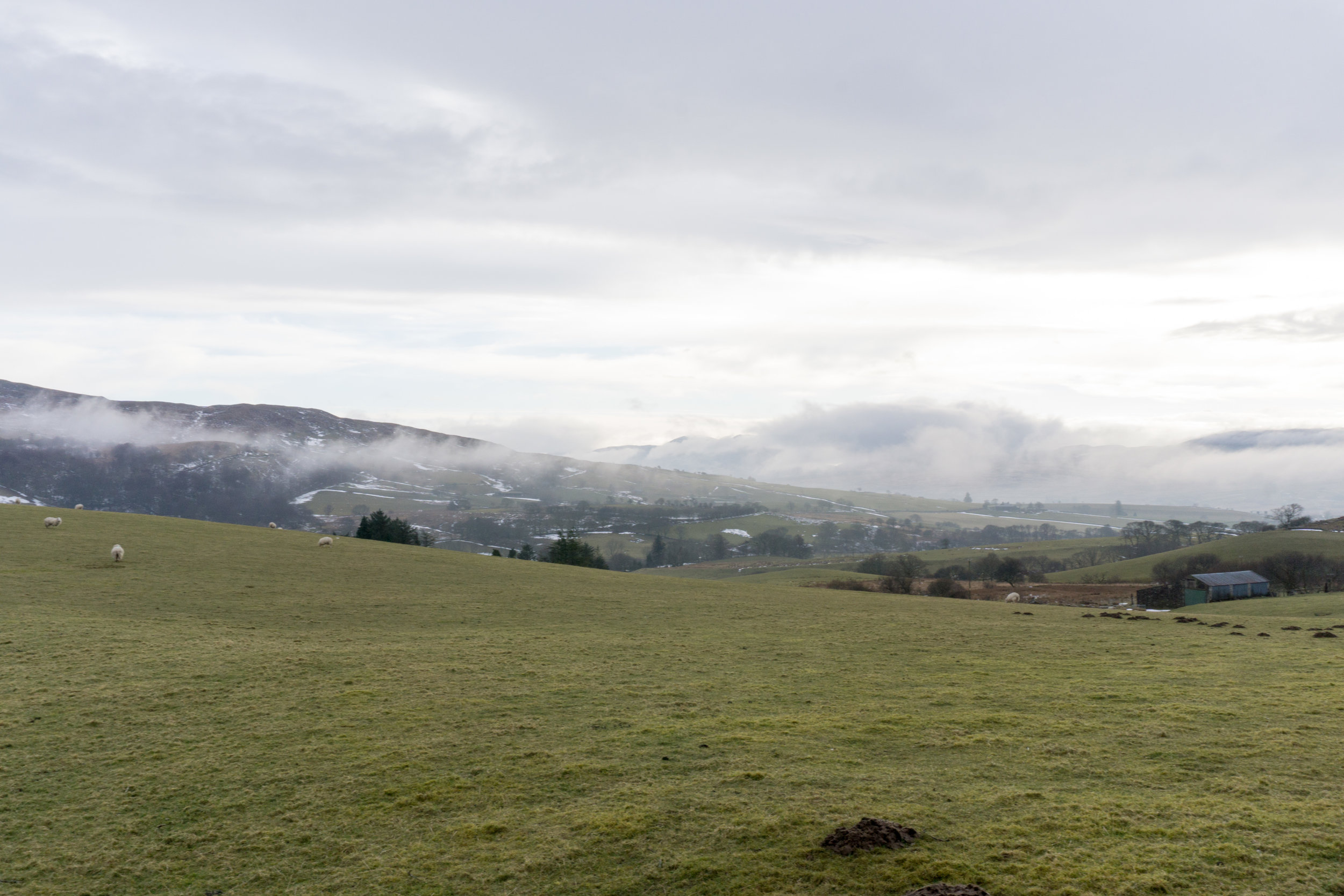 Rolling hills and sheep of Snowdonia