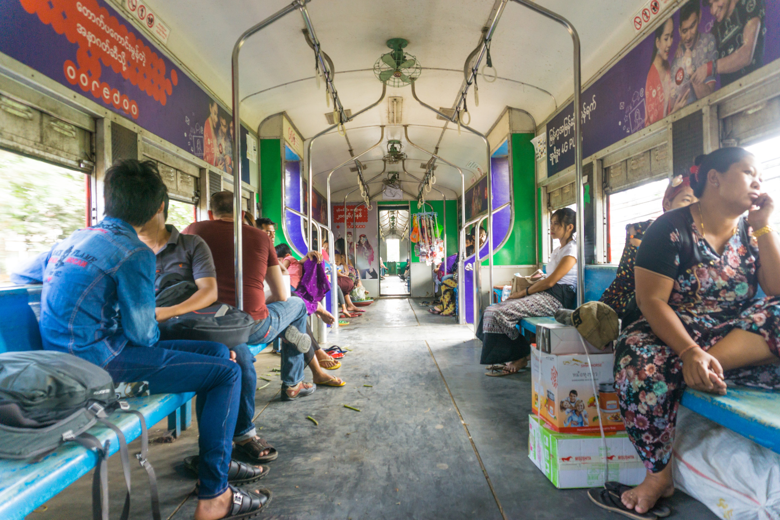 Circle Train in Yangon - which I would have never taken before seeing the episode of  Parts Unknown