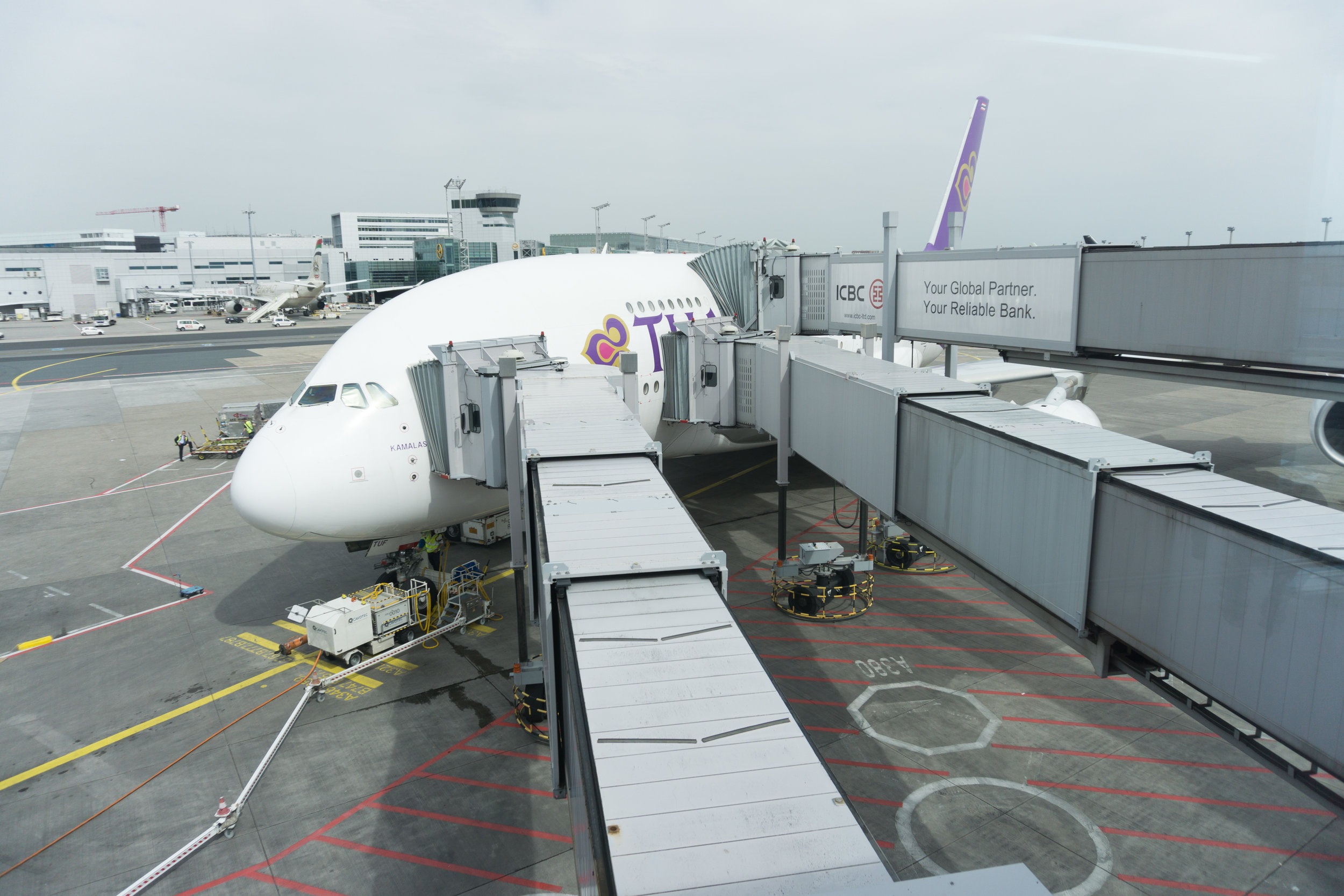 Our Thai A380 ready for departure in Frankfurt