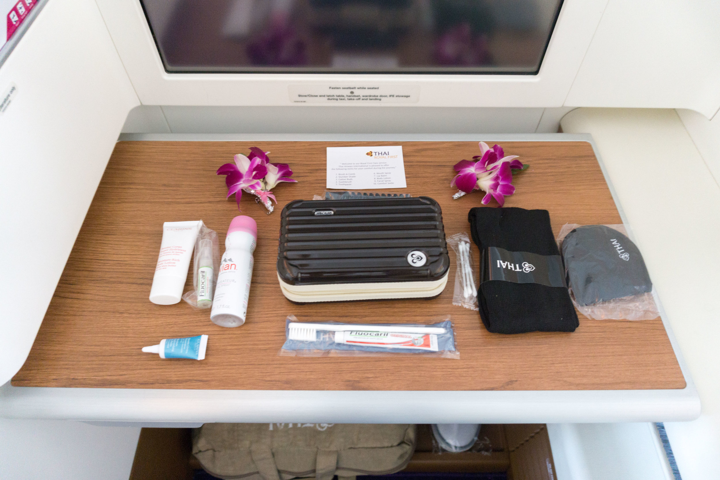 Fully stocked Rimowa amenity kits