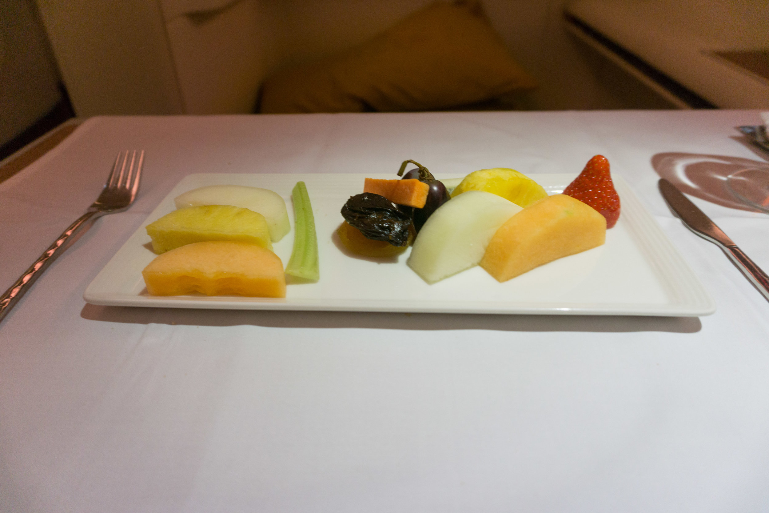 First course of dessert - fruit (I skipped out on the cheese)