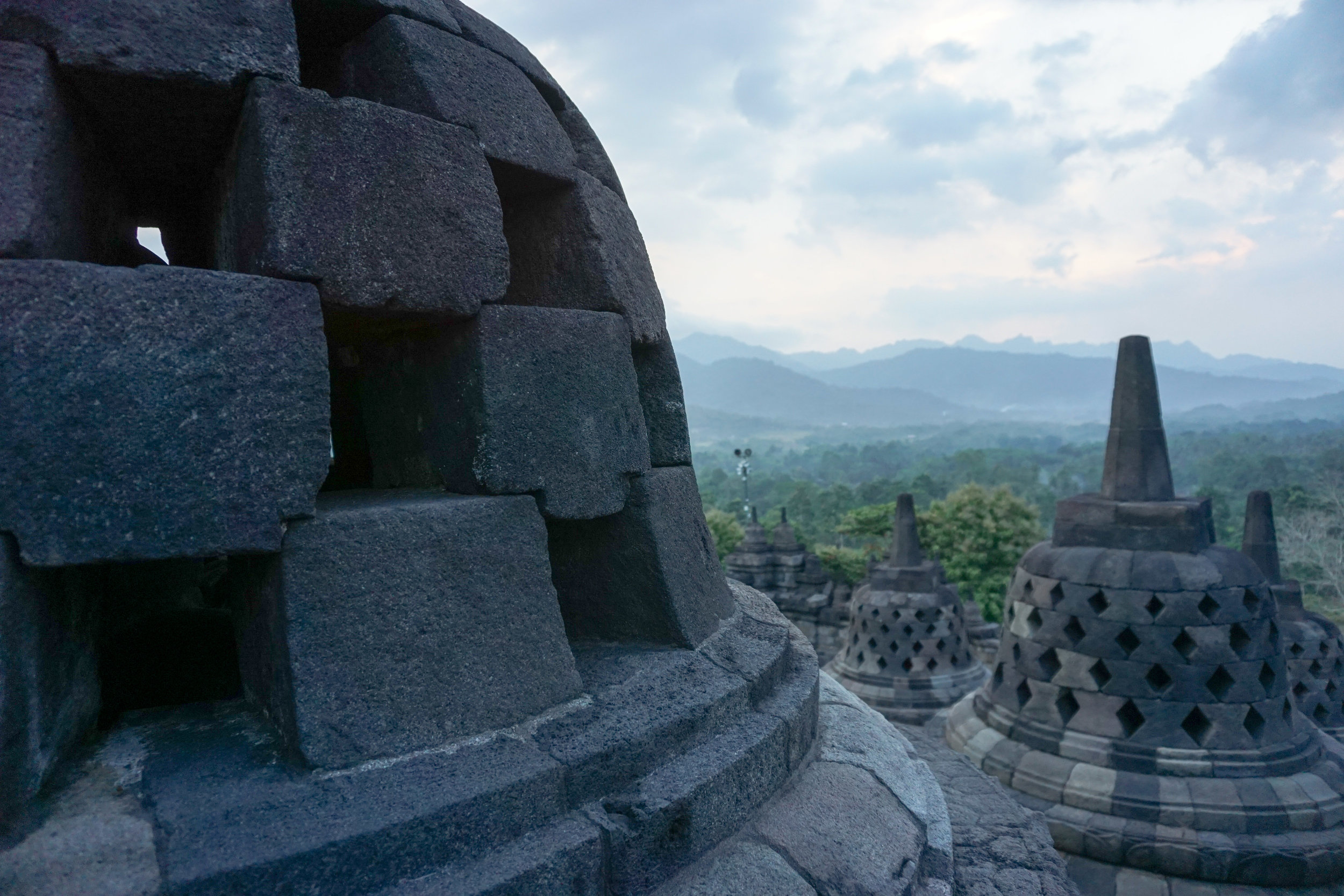 View from the top of Borobudur