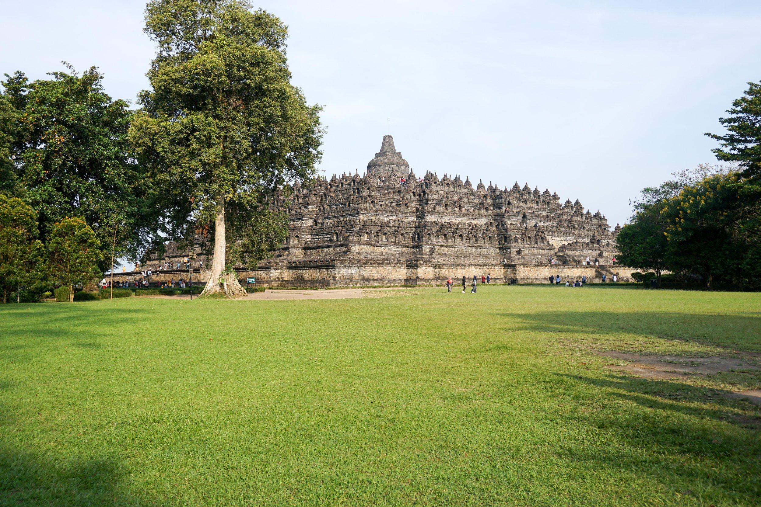 Borobudur from afar