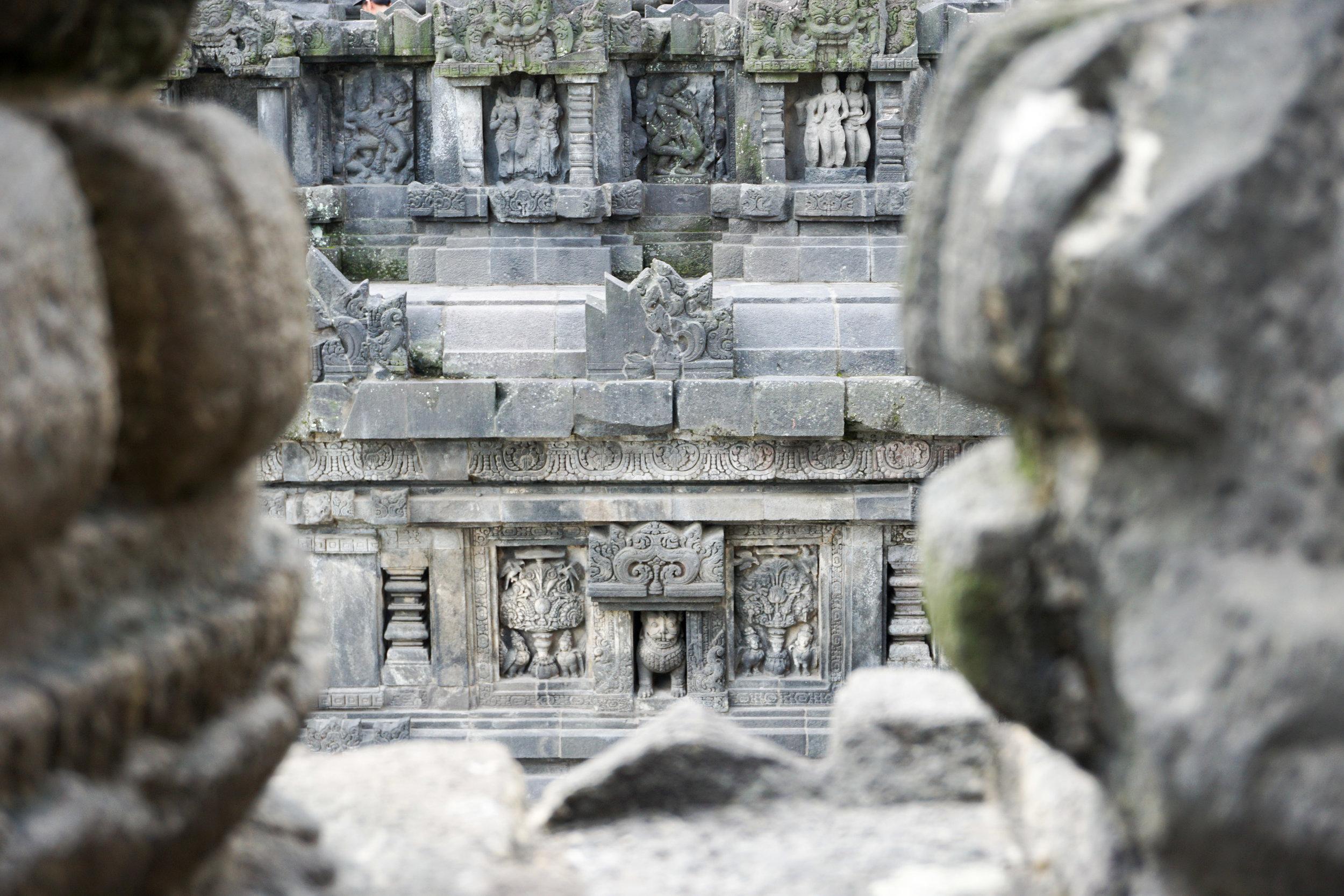 Prambanan carvings up close