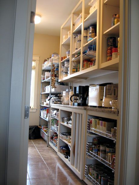 Pocket Door Walk-In Pantry can be ideal for space savers if there is not enough space to have a door opening inside or outside the room.