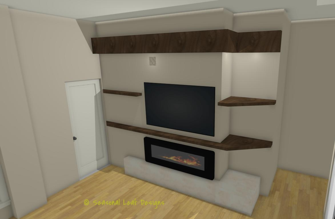 MK Fireplace 3D View 1