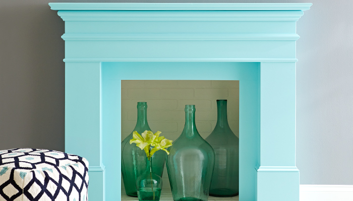 - This Mantle Makeover with paint - Courtesy Lowes, makes a statement no doubt and that has been achieved simply by paint and some imagination!
