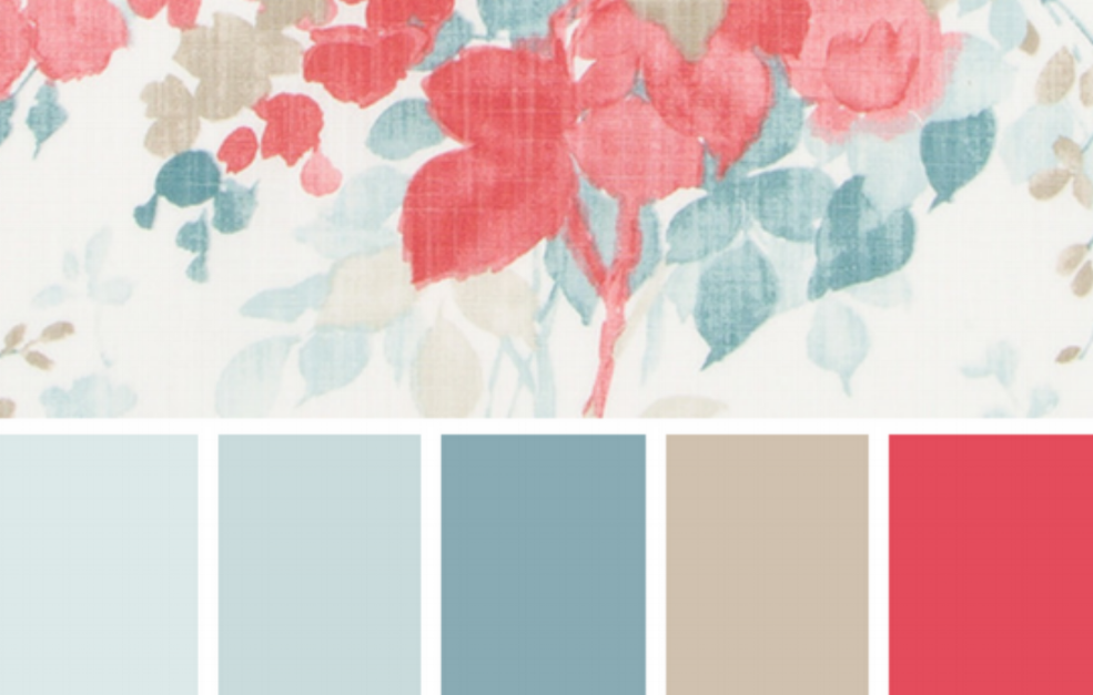 - This is an example what can be done in a Color Palette Consult by Seasonal Leaf Designs. Inspiration is taken from a favorite fabric by Duralee called Olivia Blush. Find more inspiration from Seasonal Leaf Pinterest Collection
