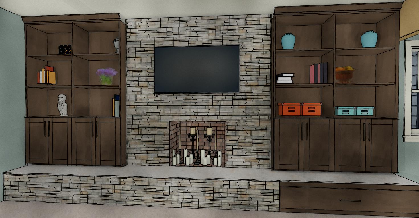 Fireplace Wall View 3