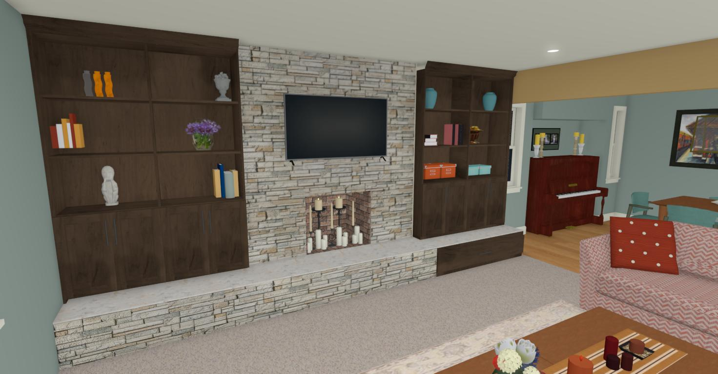Fireplace Wall View 4