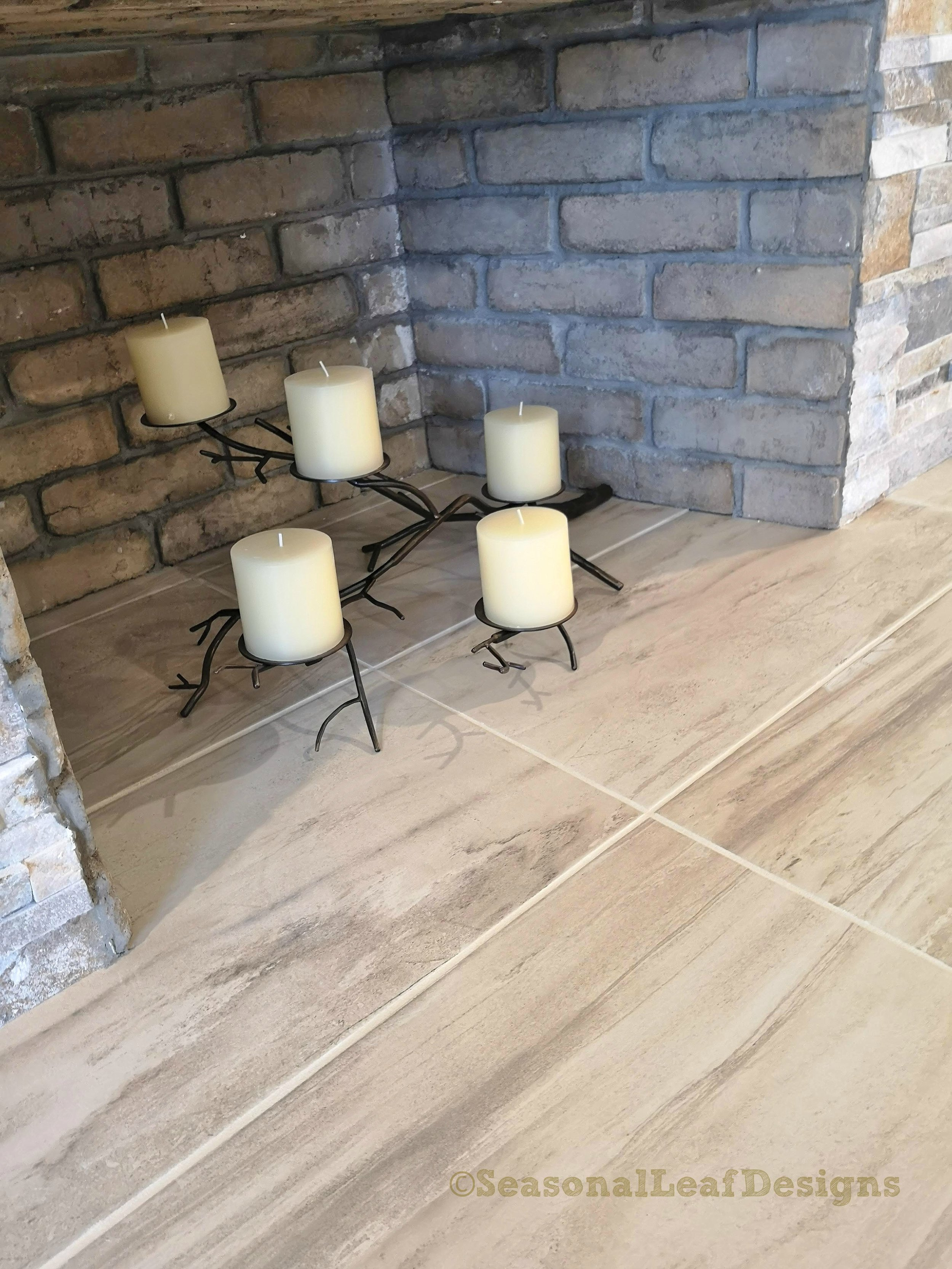 Tile Hearth for seating