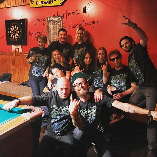 Thank you guys for coming to our little debauchery on Friday! It was so awesome to catch up with all of you and celebrate the release of our video - hopefully everyone recovered by now 😜🤪🙏🤘🔥🔥🔥 #mydemonsgalore #carryyourownlight #musicvideoreleaseparty #irishpub #thankful #godblessrocknroll