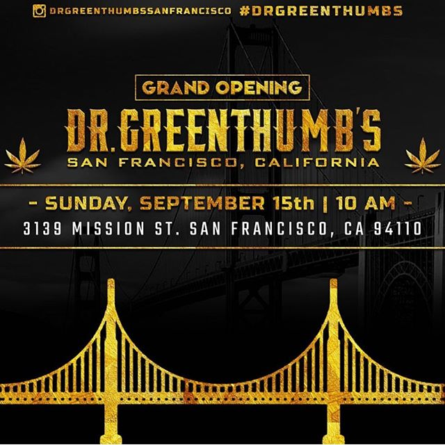 420 Hippie Hill welcomes @breal and @drgreenthumbssanfrancisco to #sanfrancisco ..grand opening today with B Real at 12 noon