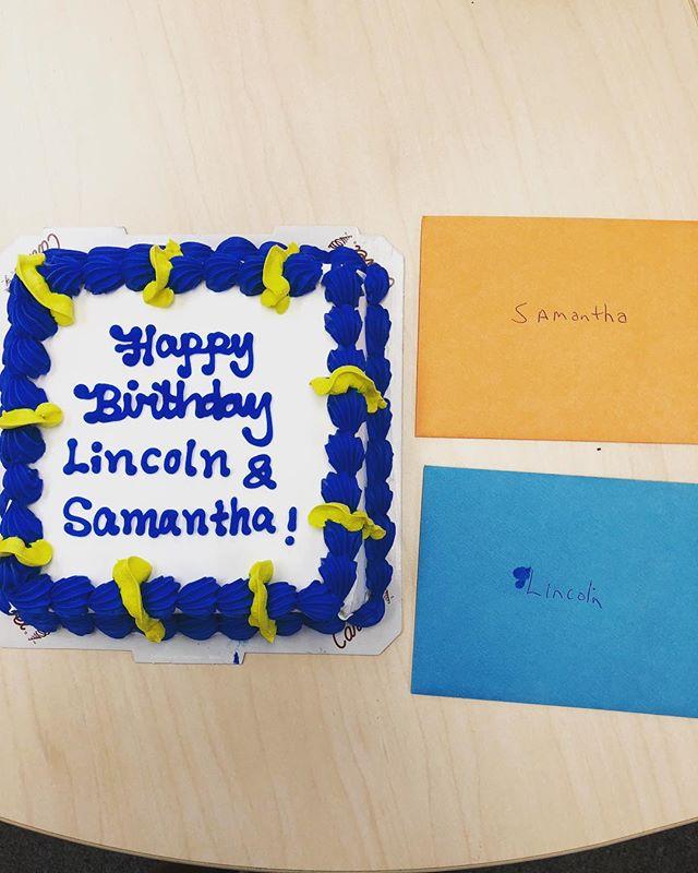 Celebrating birthdays at CBL. Lincoln and Samantha - HAPPY BIRTHDAY 🎈🎂