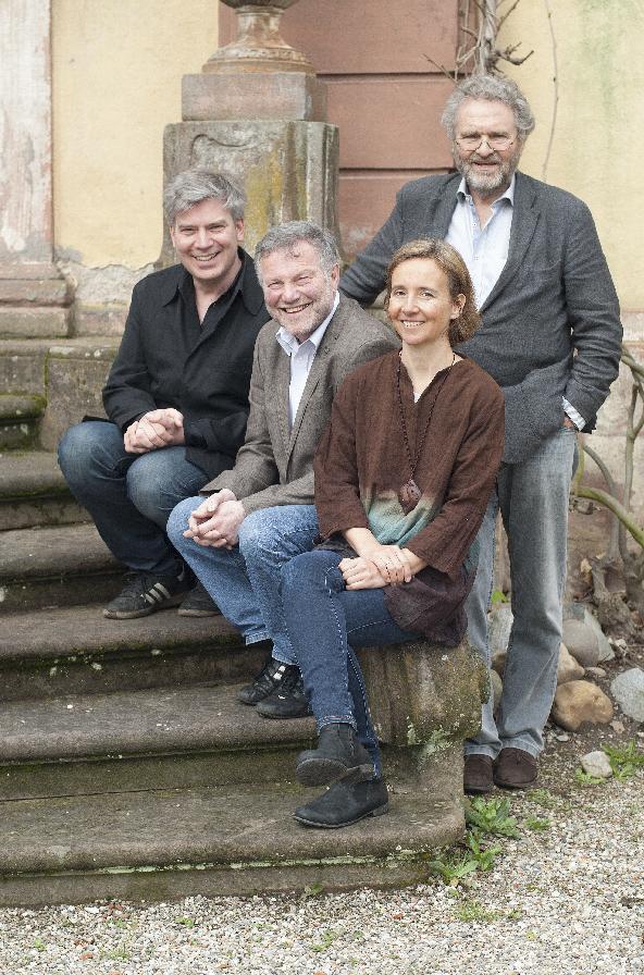 Von links: Oliver Lucht, Walter Hätti , Jana Kudzinski, Nikolaus von Gayling