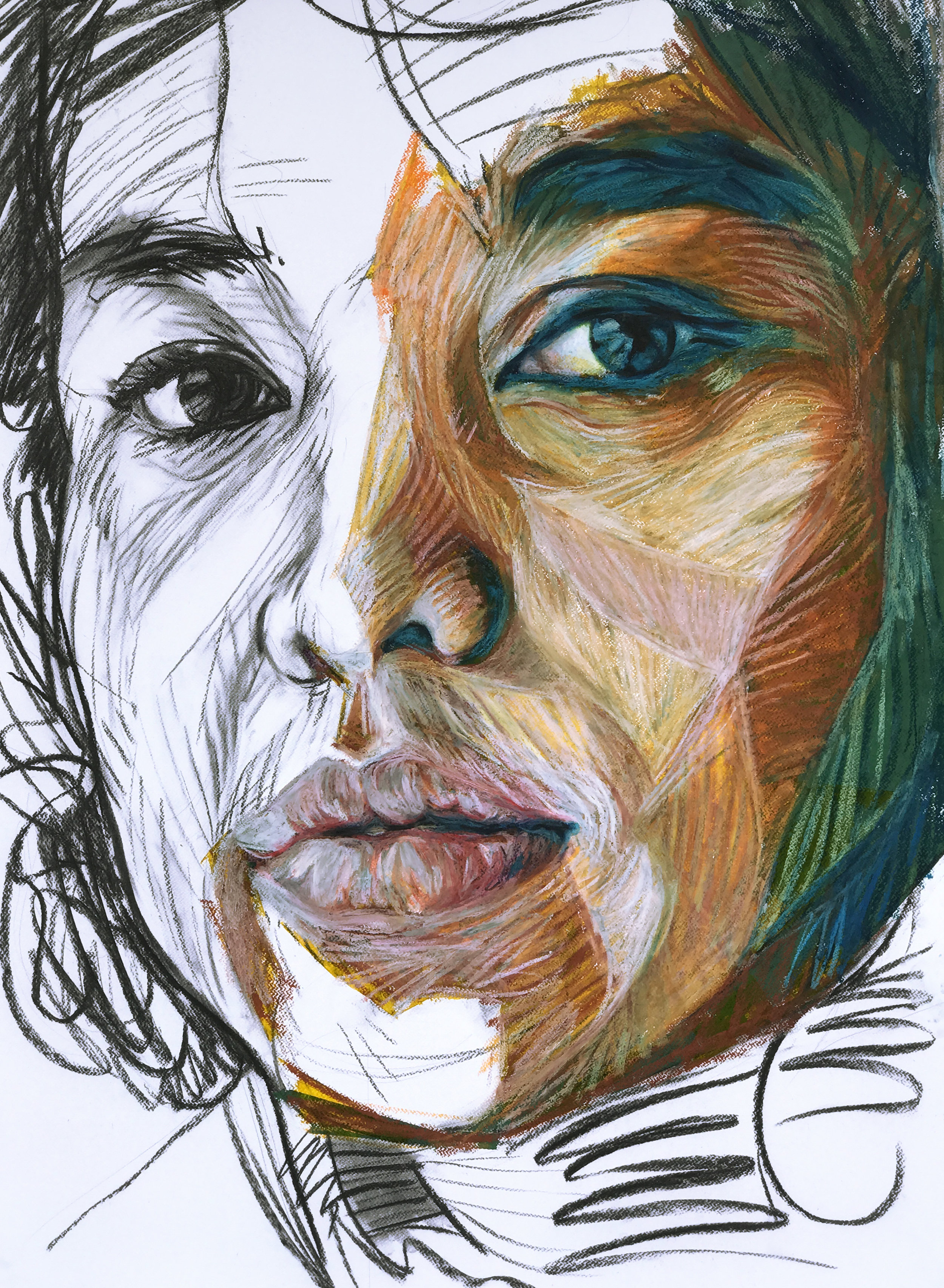 2017 Charcoal, Wax Pastel on Paper 75cm x 105cm