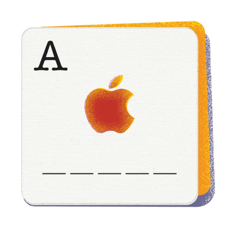 'A' for Apple