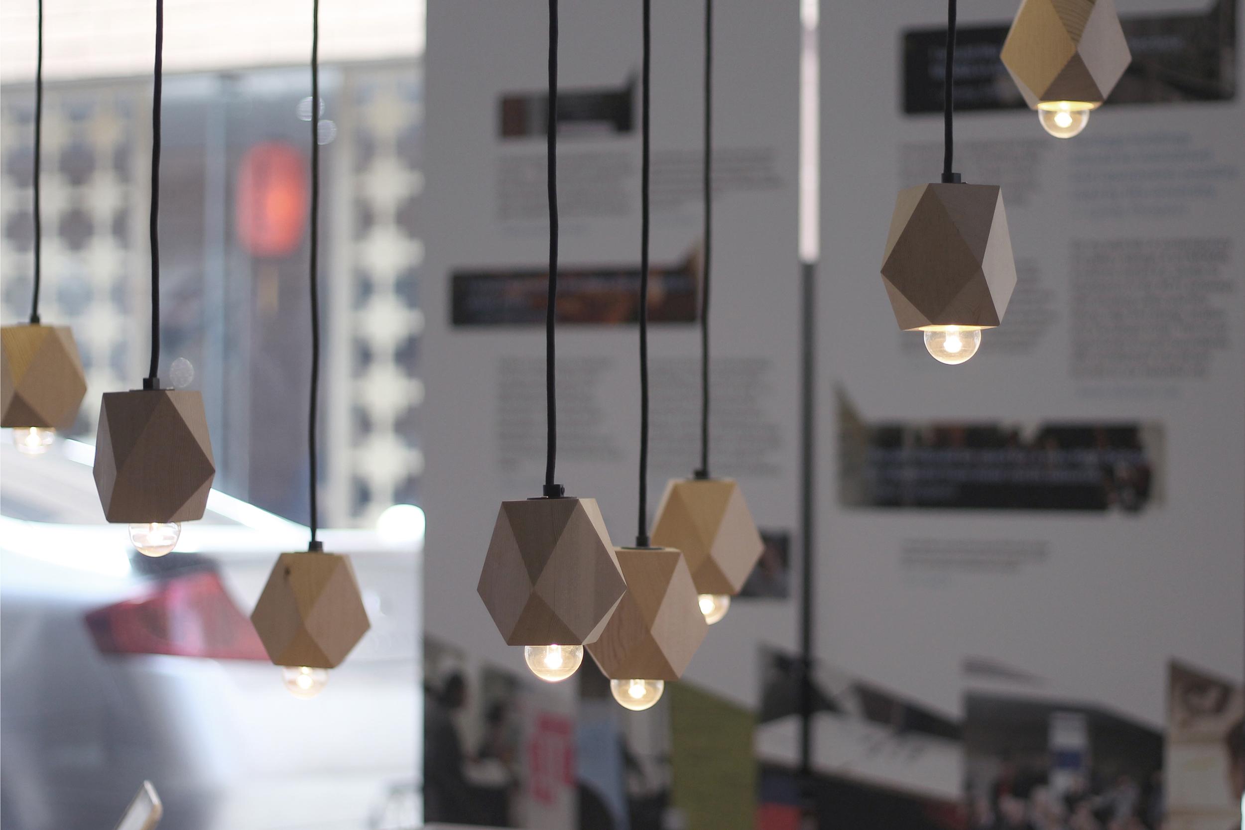 RAH Site Exhibition - custom lighting.