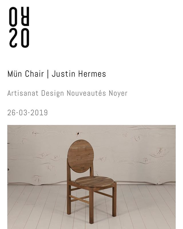 Many thanks to French wood design journal/store @oros.design @oros.store for their recent feature of my Mün chair. Check out their wonderful website and shop 🇫🇷