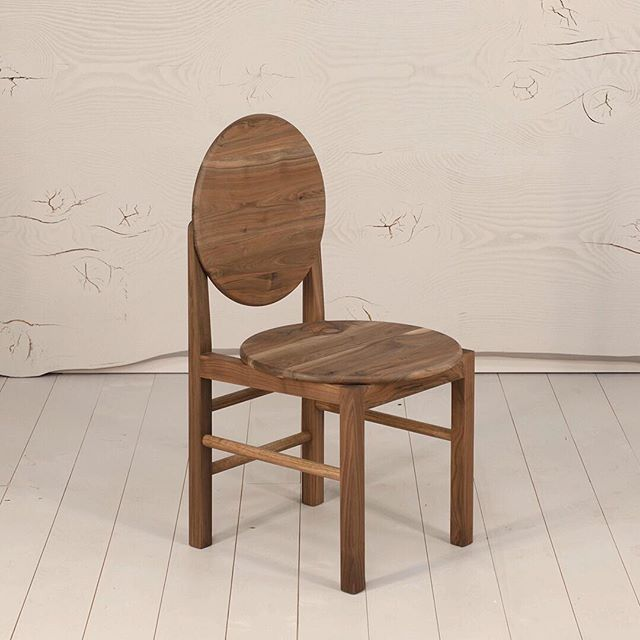 Mün Chair in English Walnut, salvaged from the grounds of a ruined settlers' cottage in the Adelaide Hills. Available for purchase on my website.