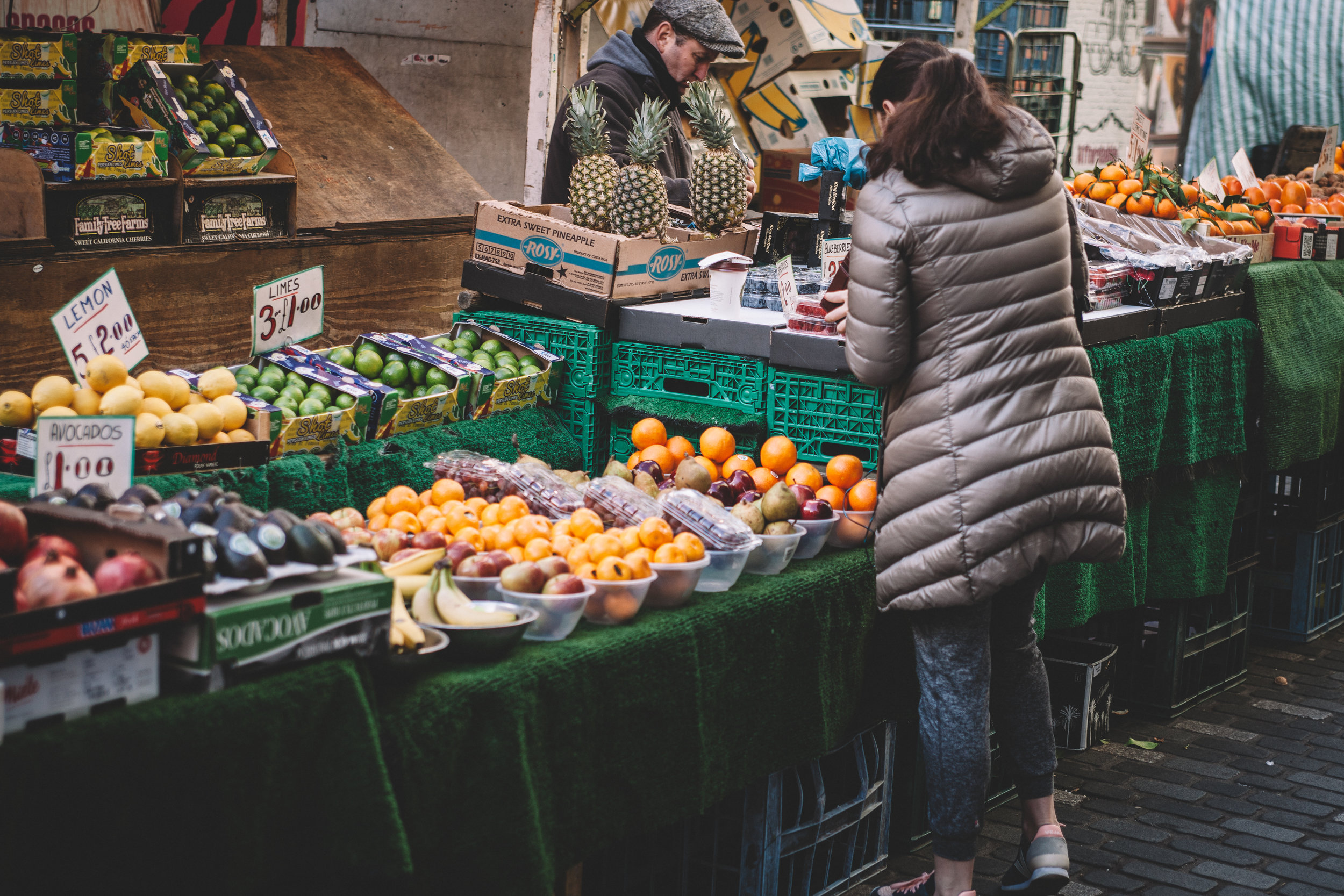 You don't have to shop at your local market to be green and eco-friendly. Focus on buying fresh local produce that's in season or is labelled with a fair-trade certification. Write a list, order online and don't forget that bag for life!