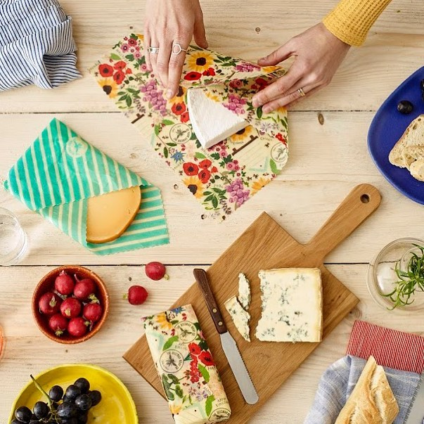 Replace your clingfilm with beeswax wrap instead - no plastic, just pretty patterns and fresher food without the environmental impact! We adore what the lovely Fran and Carly are creating over at the  Beeswax Wrap Co ! They're an all-woman team too and all products are Made in England!